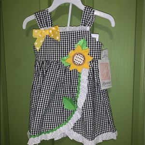 Bonnie Baby 12 month Black and White Dress